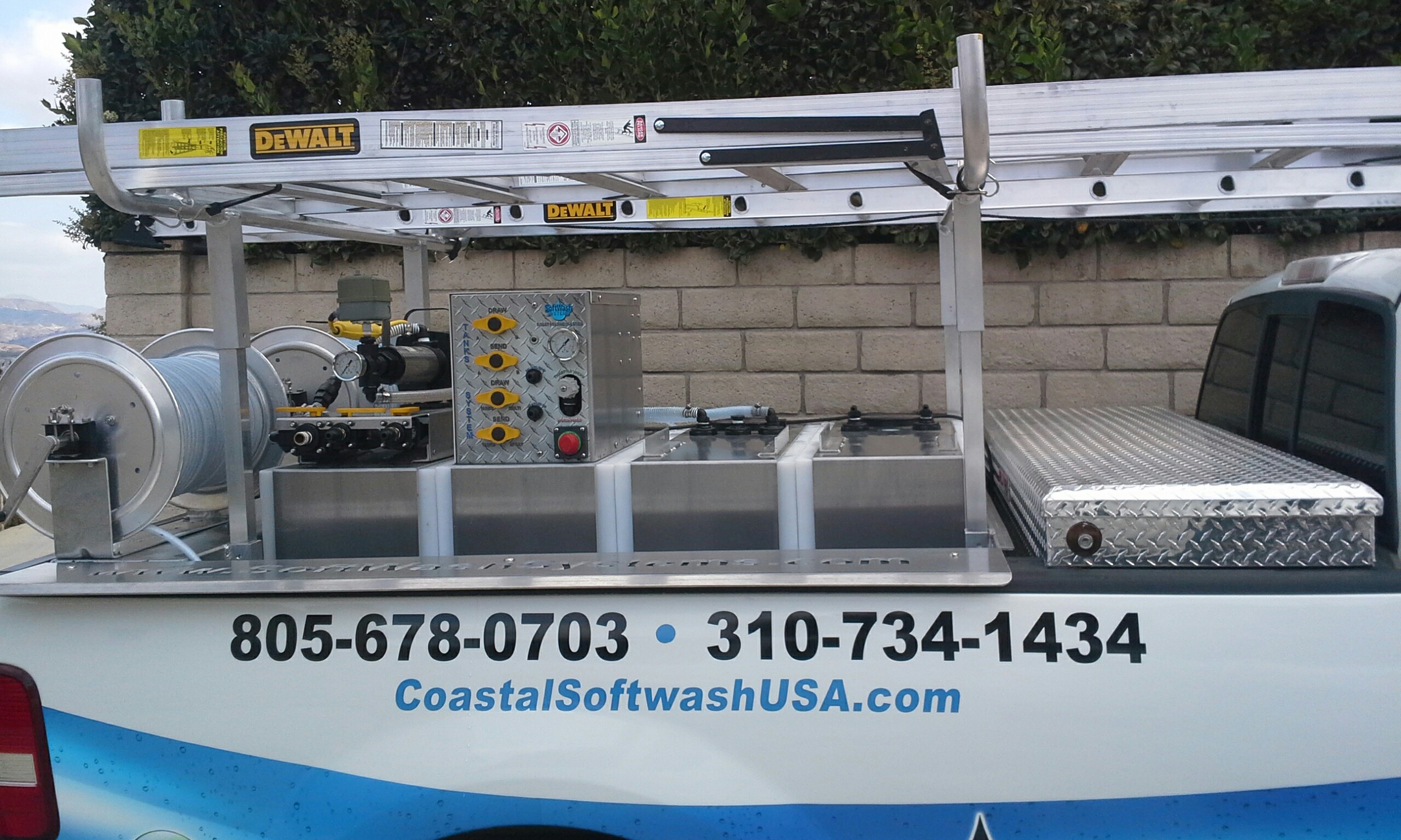 State of the art softwash, pressure wash equipment and technology
